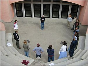 English: A view of the Rome Campus theater fro...